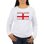 England St George Flag Womens Long Sleeve T-Shirt