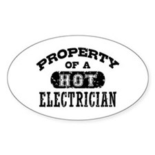 Property of a Hot Electrician Decal