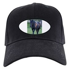 Black Percheron Mare at Pasture Baseball Hat