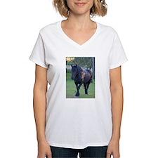 Black Percheron Mare at Pasture T-Shirt