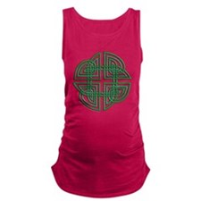 Celtic Four Leaf Clover Maternity Tank Top