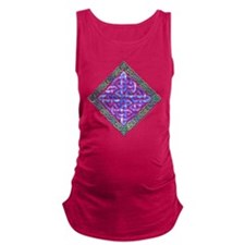 Celtic Watercolor Knotwork Maternity Tank Top