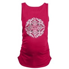 Celtic Mandala Emblem Maternity Tank Top