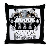 Higgins Coat of Arms Throw Pillow