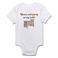 Come and party at my crib Infant Bodysuit