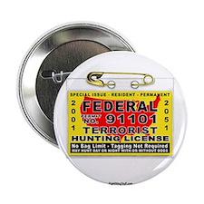 "Terrorist Hunting Permit 2.25"" Button (10 pack)"