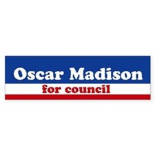 Oscar Madison for Council Bumper Bumper Sticker