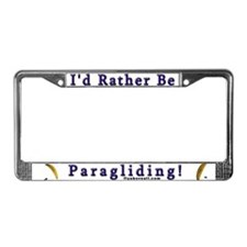 Fly Above All Paragliding License Plate