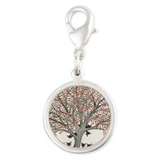 Barbados Stray Cats Silver Round Charm