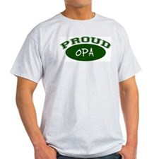Proud Opa (green) Ash Grey T-Shirt