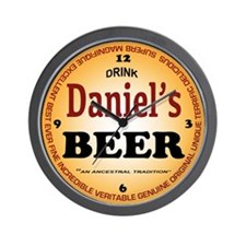 Beer Wall Clock Daniel