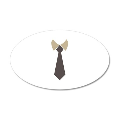 Necktie - Vintage Retro 20x12 Oval Wall Decal