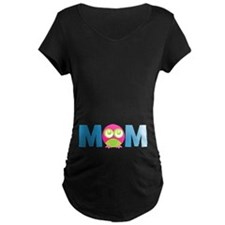 Owl Mom Maternity T-Shirt