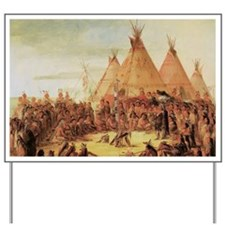 Sioux War Council by George Catlin Yard Sign