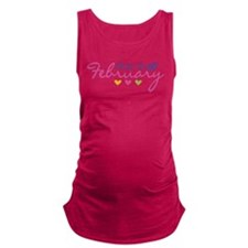 due in February Maternity Tank Top