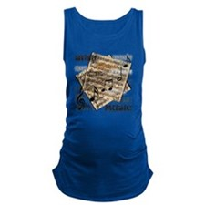 Vintage Music Maternity Tank Top