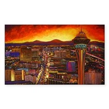 Vegas Cityscape Rectangle Decal