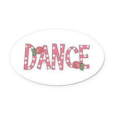 DANCE Oval Car Magnet