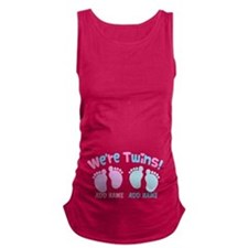 We're Girl and Boy Twins Custom Maternity Tank Top