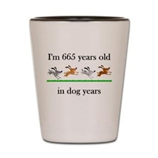 95 birthday dog years 1 Shot Glass