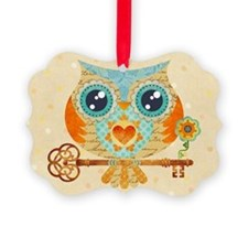 Owl's Summer Love Letters Ornament