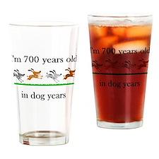 100 dog years birthday 1 Drinking Glass