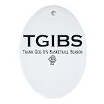 TGIBS -- Basketball Season Oval Ornament