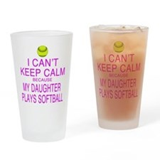 My Daughter plays softball Drinking Glass