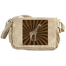 Retro Giraffe  Messenger Bag