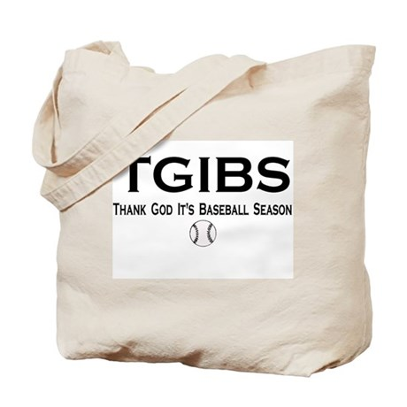 TGIBS -- Baseball Season Tote Bag