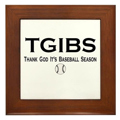 TGIBS -- Baseball Season Framed Tile