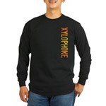 Stamp Xylophone Long Sleeve Dark T-Shirt