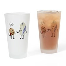 Cute Couple Showing Love Drinking Glass