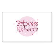 Rebecca Rectangle Decal