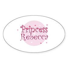 Rebecca Oval Decal
