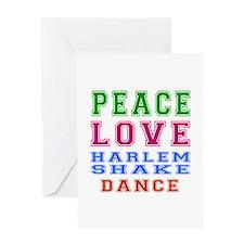 Peace Love Harlem Shake Dance Greeting Card