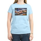 Pensacola Florida Greetings (Front) Women's Pink T