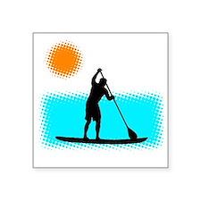 """Paddle Boarder Square Sticker 3"""" x 3"""""""