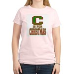 C is for Christmas Women's Pink T-Shirt