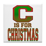 C is for Christmas Tile Coaster