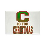 C is for Christmas Rectangle Magnet (100 pack)