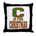 C is for Christmas Throw Pillow