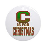 C is for Christmas Ornament (Round)