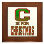C is for Christmas Framed Tile