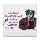 Border Collie (Tri) Tile Coaster