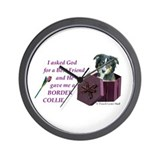 Border Collie (Tri) Wall Clock