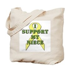 I Support My Niece Tote Bag
