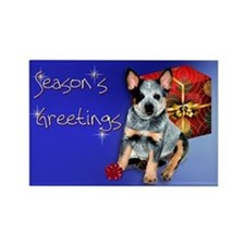 Australian Cattle Dog Holiday Rectangle Magnet