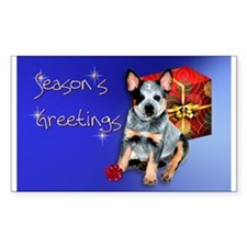 Australian Cattle Dog Holiday Sticker (Rectangular