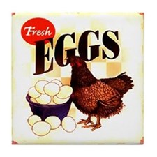 Eggs Ad Tile Coaster